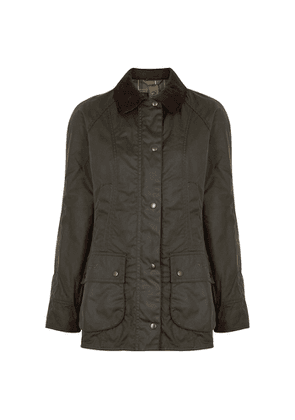 Barbour Beadnell Dark Green Waxed Cotton Jacket