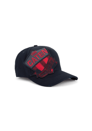 Dsquared2 Navy Logo-embroidered Cotton Cap