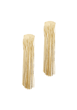 Anissa Kermiche Grand Fil D'Or Fringed Gold-plated Drop Earrings