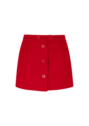 RED Valentino Red Wool-blend Shorts