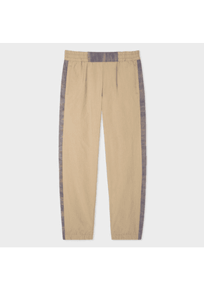 Men's Sand Red Ear Trousers With Injection-Dye Trims