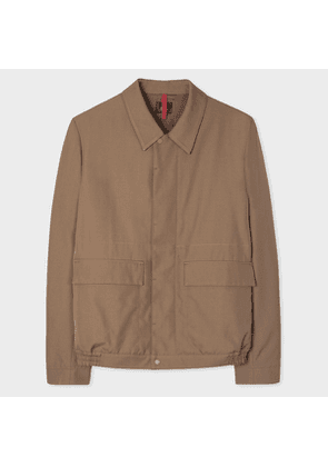 Men's Khaki Wool-Twill Red Ear Blouson Jacket