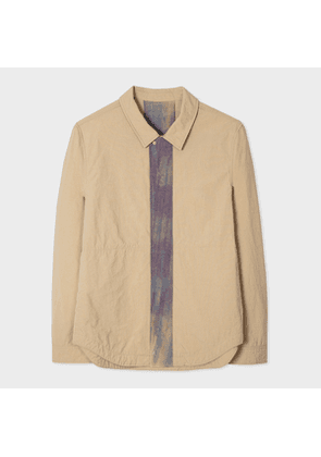 Men's Sand Red Ear Shirt With Injection-Dye Trims