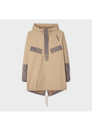 Men's Sand Red Ear Parka With Injection-Dye Trims