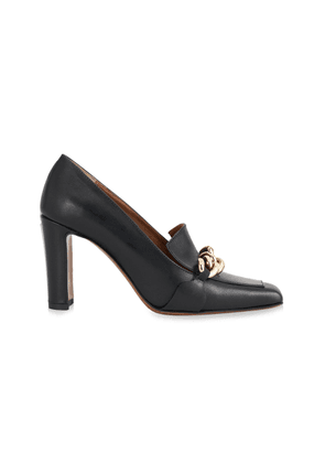 ATP Atelier Chain-Trimmed Leather Pumps