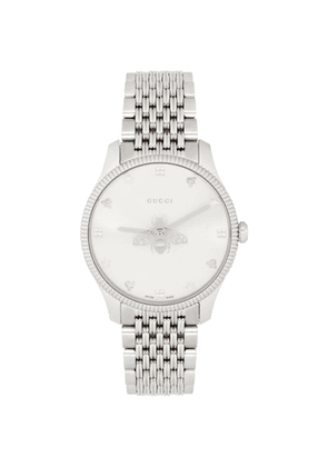 Gucci Silver G-Timeless Bee Watch