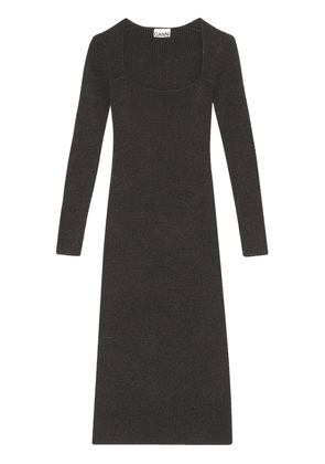 Rayon Blend Knit Midi Dress
