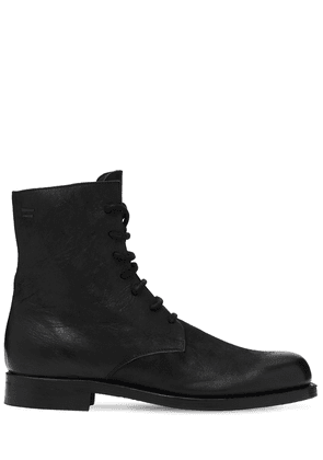 Steer Leather Lace-up Boots