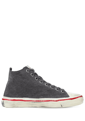 Olona Cotton Canvas High-top Sneakers