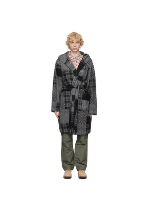 Engineered Garments Black and Grey Patchwork Robe