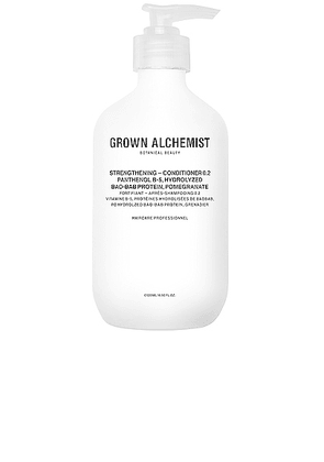 Grown Alchemist Strengthening Conditioner 0.2 in Panthenol B-5  Hydrolyzed Baobab Protein & Pomegranate - Neutral. Size all.