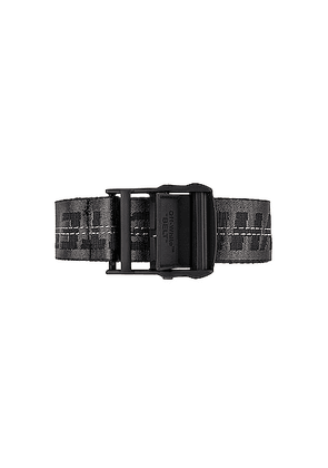OFF-WHITE Classic Industrial Belt in Black & Black - Black. Size all.