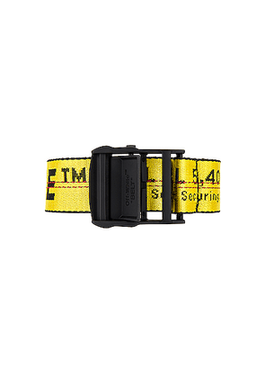 OFF-WHITE Classic Industrial Belt in Yellow & Black - Yellow. Size all.