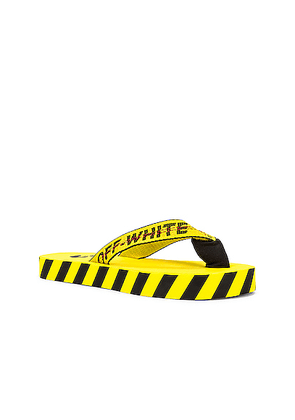 OFF-WHITE Flip Flop in Yellow & Black - Yellow. Size 40 (also in 41,42,43,44,45,46).