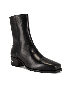 Amiri Calf Square Toe Boot in Black - Black. Size 42 (also in 41,43).