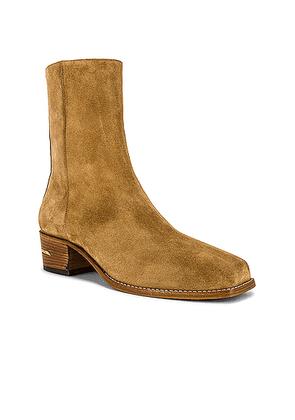 Amiri Suede Square Toe Boot in Tan - Brown. Size 40 (also in 41,42,43,44).