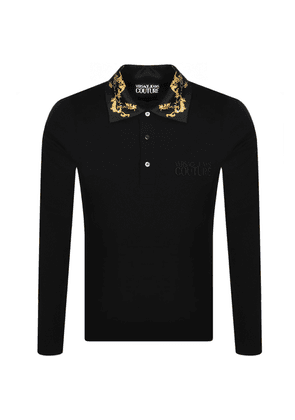 Versace Jeans Couture Long Sleeve Polo T Shirt
