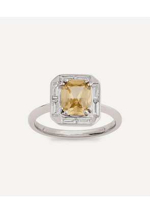 White Gold Heni Yellow Sapphire and Diamond Ring
