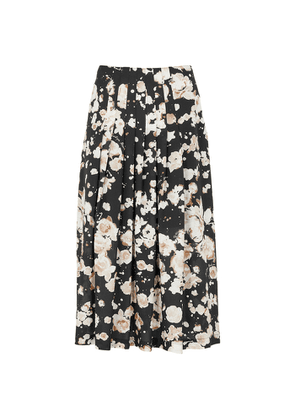 Boutique Moschino Printed Pleated Midi Skirt