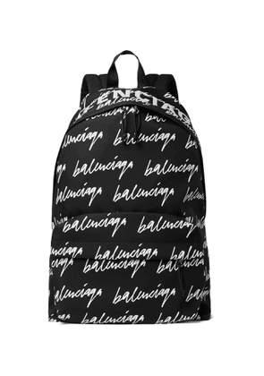 Balenciaga - Scribble Printed Canvas Backpack - Men - Black