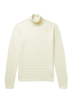 Barena - Striped Virgin Wool Rollneck Sweater - Men - Neutrals