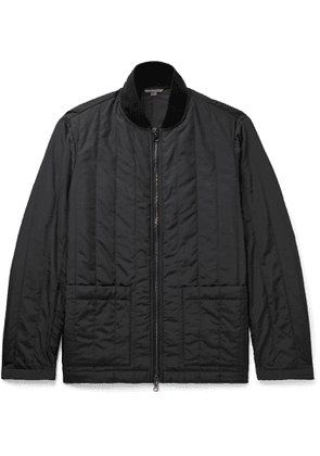 Barena - Quilted Satin Bomber Jacket - Men - Black