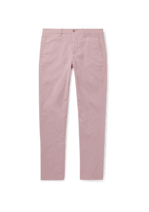 Dunhill - Slim-Fit Tapered Stretch-Cotton Twill Chinos - Men - Pink