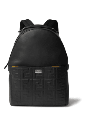 Fendi - Peekaboo Logo-Embossed Leather Backpack - Men - Black