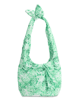 Printed Nylon Top Handle Bag
