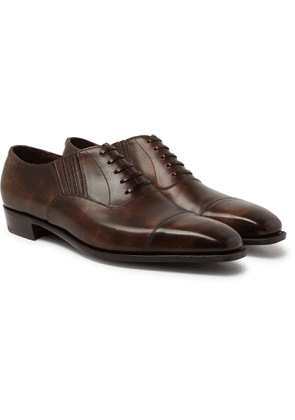 George Cleverley - Bodie II Bourbon Leather Oxford Shoes - Men - Brown