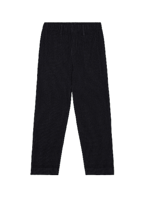 Homme Plisse Issey Miyake Straight Leg Trousers in Navy - Navy. Size 2 (also in ).