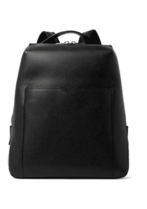 Valextra - Textured-Leather Backpack - Men - Black