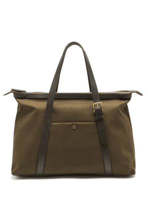 Mismo - Avail Canvas & Leather Tote Bag - Mens - Dark Brown