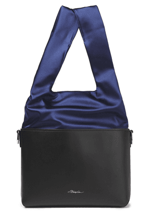 3.1 Phillip Lim Two-tone Satin And Leather Bucket Bag Woman Black Size --