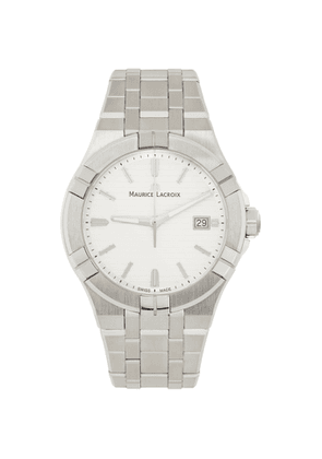 Maurice Lacroix White Aikon Gents 3 Hands Watch