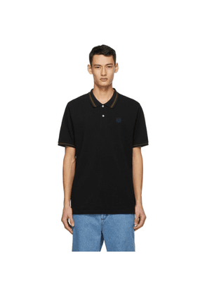 Loewe Black Anagram Embroidered Polo