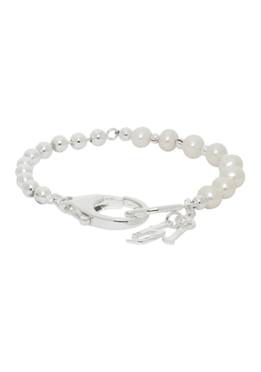 Hatton Labs Silver and Pearl 50/50 Bracelet