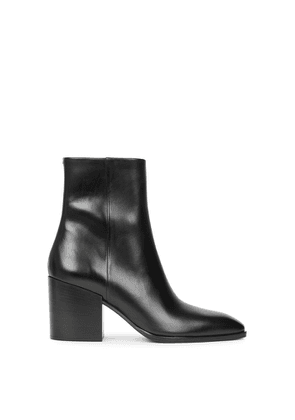 Aeyde Leandra 80 Black Leather Ankle Boots