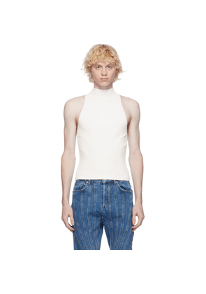 Dion Lee Off-White Lustrate Racer Tank Top