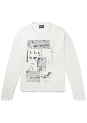 Enfants Riches Déprimés - Oversized Printed Cotton-Jersey T-Shirt - Men - Neutrals