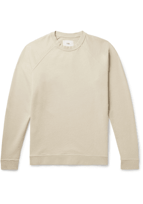 Folk - Rivet Garment-Dyed Loopback Cotton-Jersey Sweatshirt - Men - Neutrals