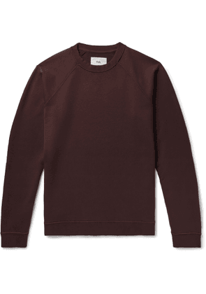 Folk - Rivet Garment-Dyed Loopback Cotton-Jersey Sweatshirt - Men - Burgundy