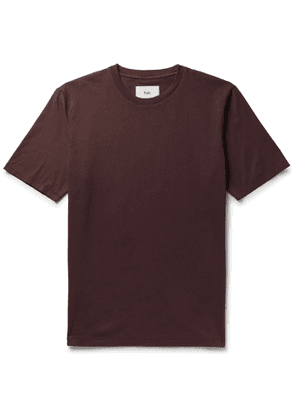 Folk - Garment-Dyed Cotton-Jersey T-Shirt - Men - Burgundy