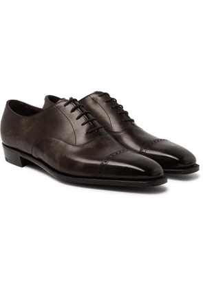 George Cleverley - Nakagawa Burnished-Leather Oxford Shoes - Men - Brown
