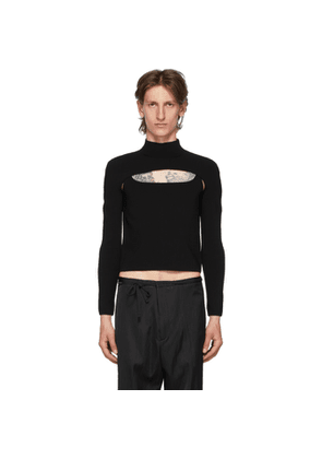 Dion Lee Black Two-Piece Stirrup Top