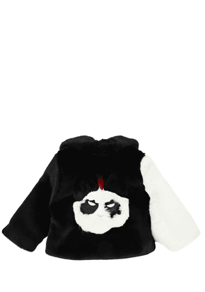 Panda Patchwork Faux Fur Coat