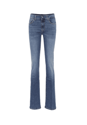 Mid-rise slim bootcut jeans