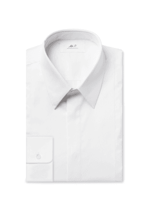 Mr P. - White Slim-Fit Bib-Front Cotton Tuxedo Shirt - Men - White