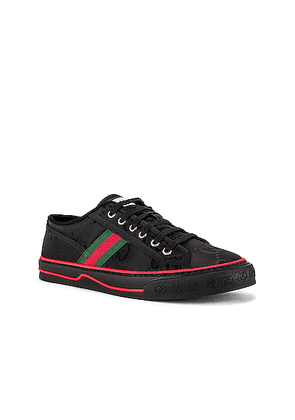 Gucci Gucci Tennis 1977 Low Top Sneaker in Black/Black/Green & Blue - Black. Size 11 (also in 10.5,7.5,8,9,11.5,8.5,12).