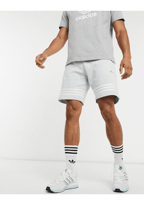 adidas Originals outline stripe shorts in grey